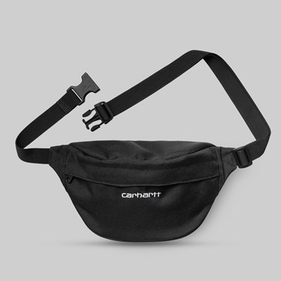CARHARTT WIP PAYTON HIP BAG BLACK WHITE