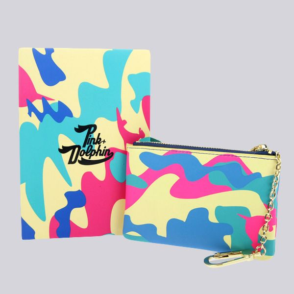 Pink Dolphin Multi Camo Coin Pouch
