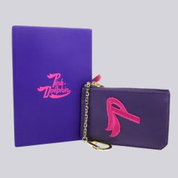 Pink Dolphin P Coin Pouch Purple