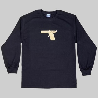 POETS GLOCK LONG SLEEVE T-SHIRT BLACK