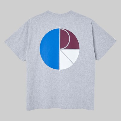 POLAR SKATE CO. 3 TONE FILL LOGO SS TEE SPORT GREY