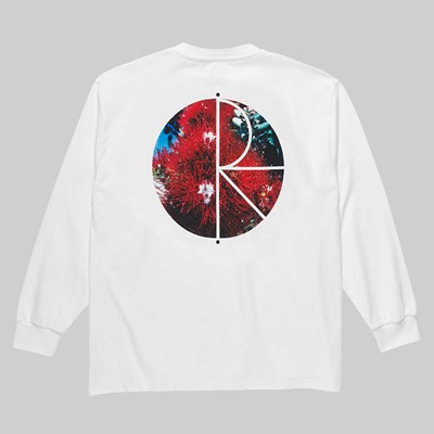 POLAR SKATE CO. CALLISTEMON FILL LONGSLEEVE TEE WHITE
