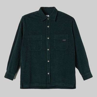 POLAR SKATE CO. CORD SHIRT DARK GREEN
