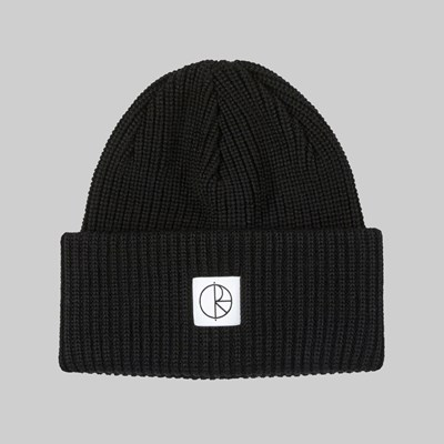 POLAR SKATE CO. DOUBLE FOLD MERINO BEANIE BLACK