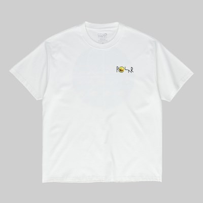 POLAR SKATE CO. DRAGONS NEST FILL LOGO SS TEE WHITE