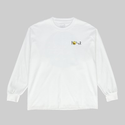 POLAR SKATE CO. DRAGONS NEST FILL LOGO LS TEE WHITE