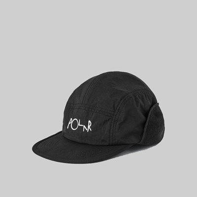 POLAR SKATE CO. FLAP CAP BLACK