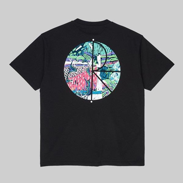 POLAR SKATE CO. GARDEN FILL LOGO SS T-SHIRT BLACK
