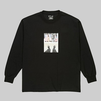 POLAR SKATE CO. HAPPY SAD LONGSLEEVE TEE BLACK