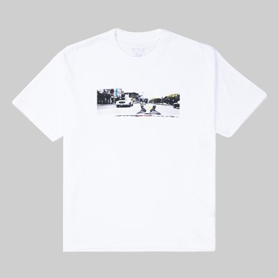 POLAR SKATE CO. HOUSTON SS T-SHIRT WHITE
