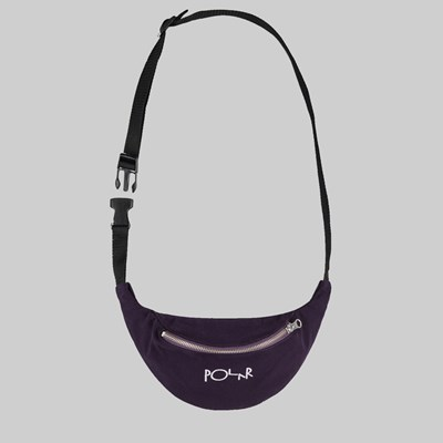 POLAR SKATE CO. SCRIPT LOGO HIP BAG PRUNE