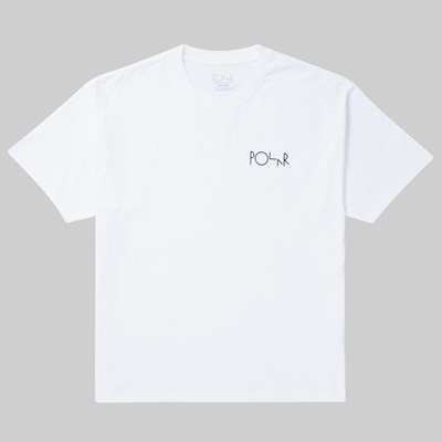 POLAR SKATE CO. MEMORY PALACE FILL SS T-SHIRT WHITE