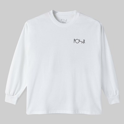POLAR SKATE CO. MEMORY PALACE FILL LS TEE WHITE