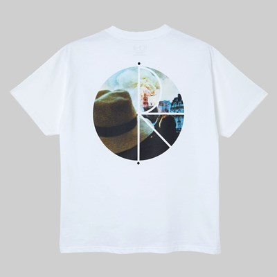 POLAR SKATE CO. NOTRE DAME FILL LOGO SS TEE WHITE