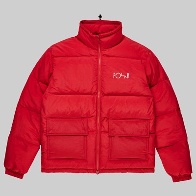 POLAR SKATE CO. POCKET PUFFER JACKET RED