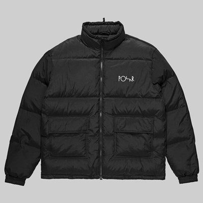 POLAR SKATE CO. POCKET PUFFER JACKET BLACK