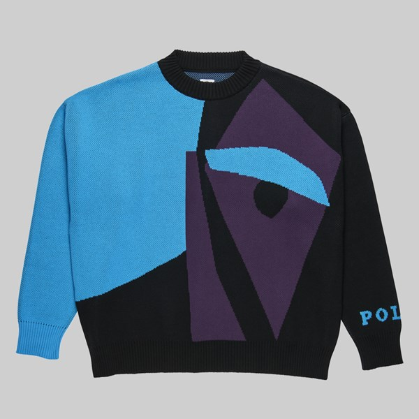 POLAR SKATE CO. ART KNIT SWEATER SELFIE BLACK