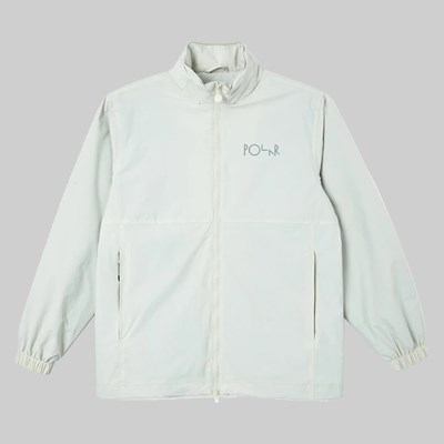 POLAR SKATE CO. COACH JACKET OYSTER WHITE