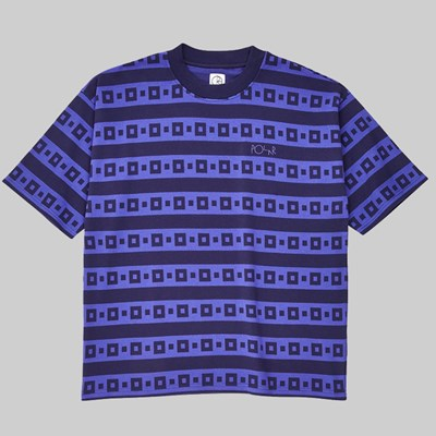 POLAR SKATE CO. SQUARE STRIPE SURF TEE PURPLE