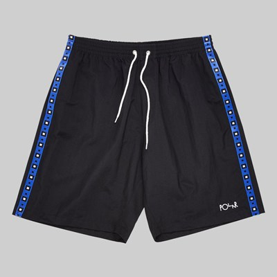 POLAR SKATE CO. SQUARE STRIPE CITY SWIM SHORTS BLACK
