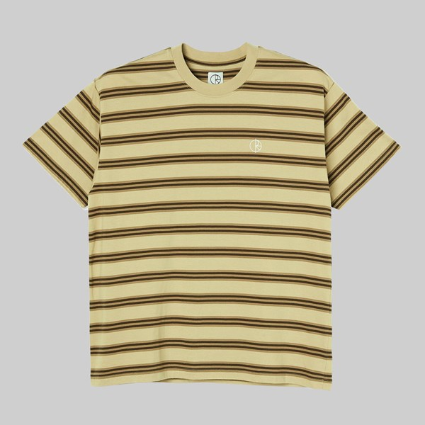 POLAR SKATE CO. STRIPE PREMIUM SS T-SHIRT SAND