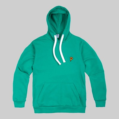 POST DETAILS POP P HOODED SWEATSHIRT GREEN