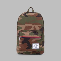 HERSCHEL POP QUIZ BACKPACK WOODLAND CAMO MULTI ZIP