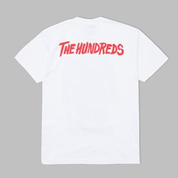 THE HUNDREDS X FRIDAY THE 13TH POSTER TEE WHITE