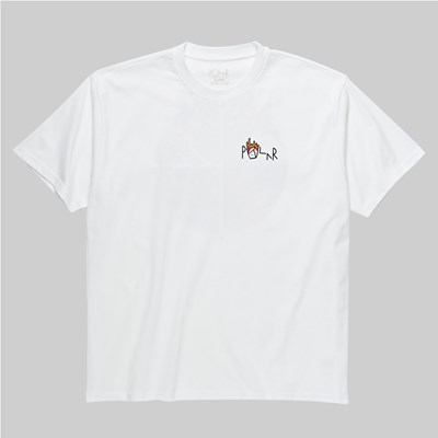 POLAR SKATE CO. CASTLE FILL LOGO SS T-SHIRT WHITE