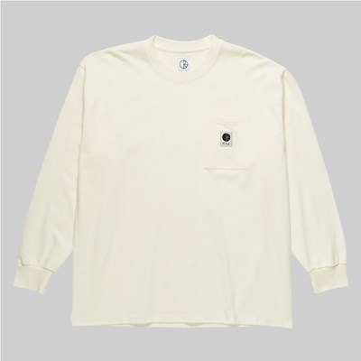 POLAR SKATE CO. LONG SLEEVE POCKET T-SHIRT IVORY
