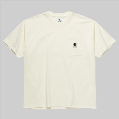 POLAR SKATE CO. POCKET SS T-SHIRT IVORY
