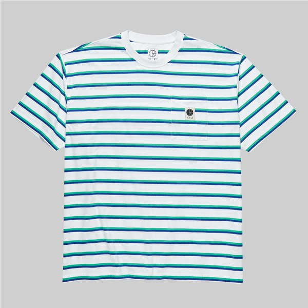 POLAR SKATE CO. STRIPE POCKET SS T-SHIRT WHITE