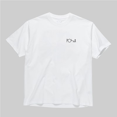 POLAR SKATE CO. TK FILL LOGO SS T-SHIRT WHITE