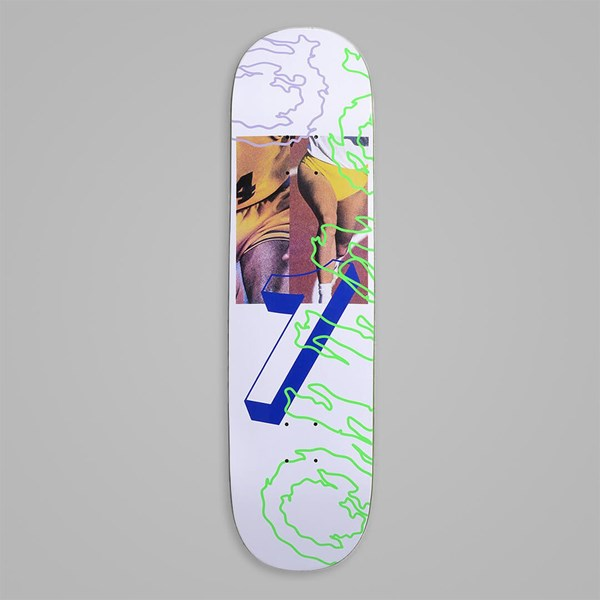 QUASI SKATEBOARDS 'GAMES' DECK WHITE 8.25""