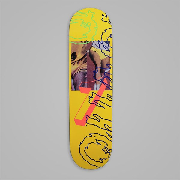 QUASI SKATEBOARDS 'GAMES' DECK YELLOW 8.5""
