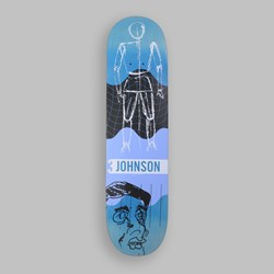 QUASI JOHNSON FUTURO DECK BLUE FADE 8.125""