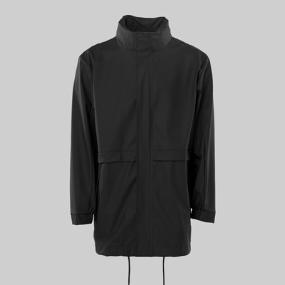 RAINS TRACK JACKET BLACK