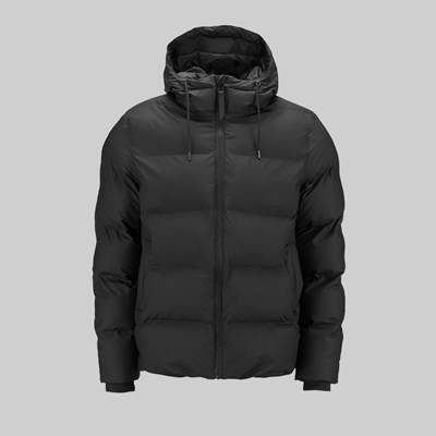 RAINS PUFFER JACKET BLACK