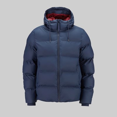 RAINS PUFFER JACKET BLUE