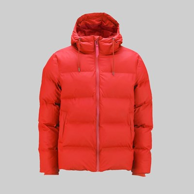 RAINS PUFFER JACKET RED