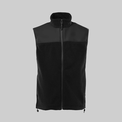 RAINS FLEECE VEST BLACK