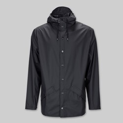 RAINS JACKET BLACK