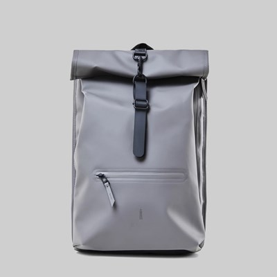 RAINS ROLL TOP BACKPACK CHARCOAL