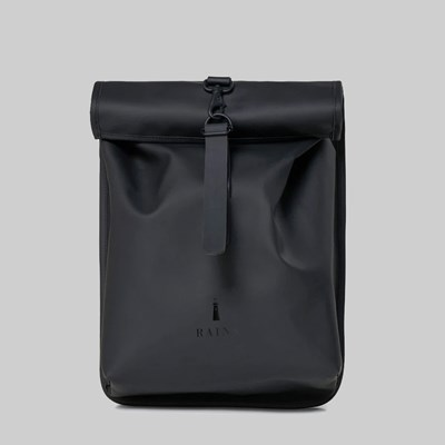 RAINS ROLL TOP BACKPACK MINI BLACK