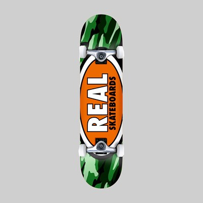 REAL SKATEBOARDS COMPLETE OVAL CAMO MD 7.75