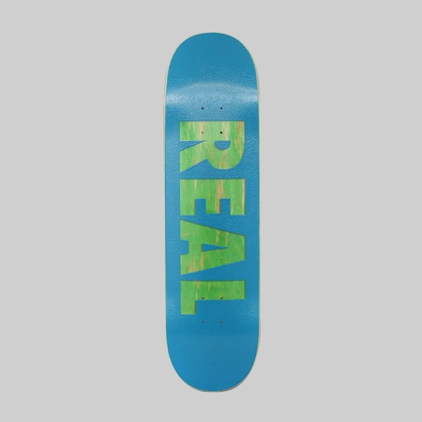 REAL SKATEBOARDS BOLD SERIES BLUE DECK 8.25