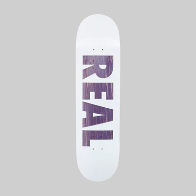 REAL SKATEBOARDS BOLD SERIES WHITE DECK 8.5