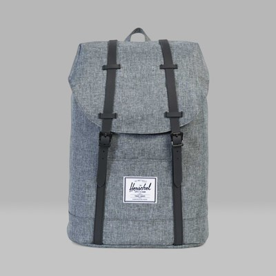 HERSCHEL RETREAT BACKPACK RAVEN CROSSHATCH