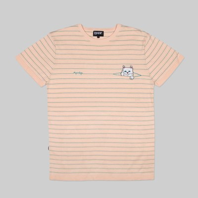 RIP N DIP PEEKING NERMAL JACQUARD TEE NATURAL TEAL
