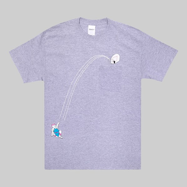 RIP N DIP HOOPS POCKET SS T-SHIRT HEATHER GREY